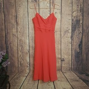 Anne Klein maxi dress gown coral size 6